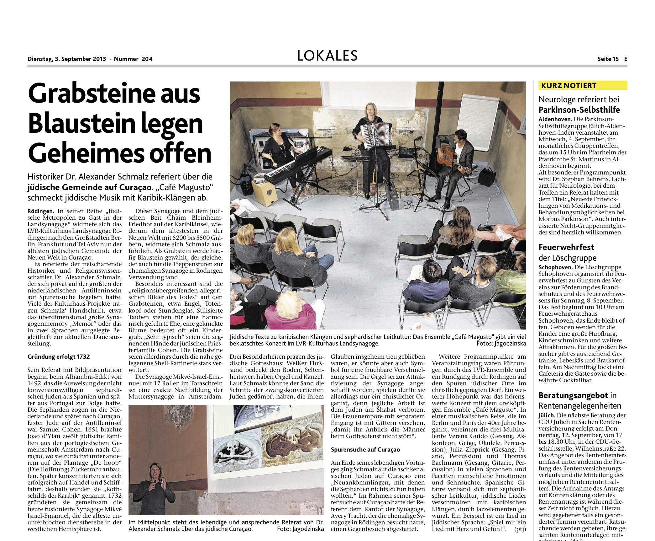 Aachener Zeitung 2013-09-03